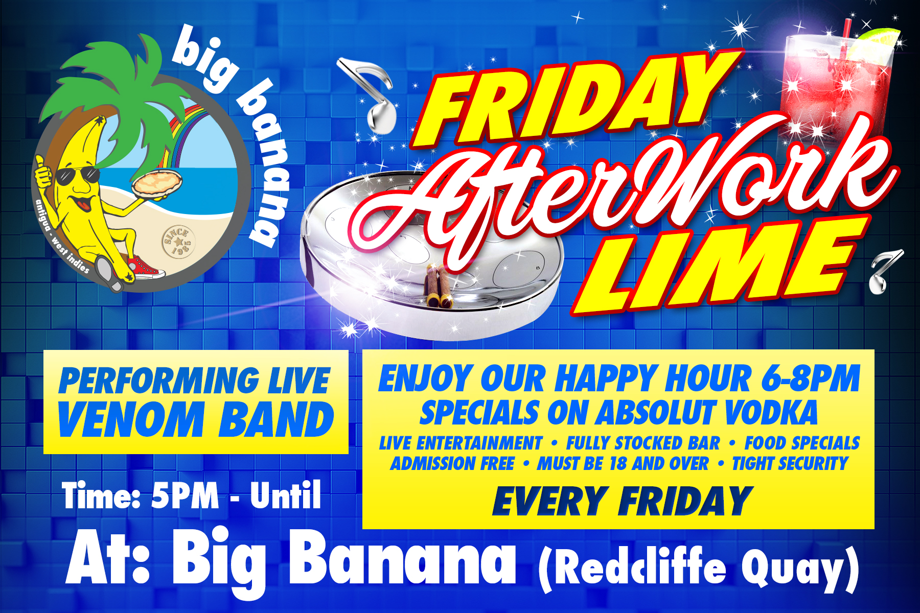 Afterwork Lime – Every Friday @ Pizzas in Paradise